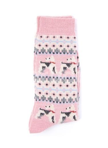 Barbour Terrier Fairisle Çorap Pı11 Pink Pembe